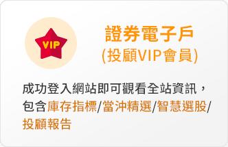 證券電子戶(投顧VIP會員)